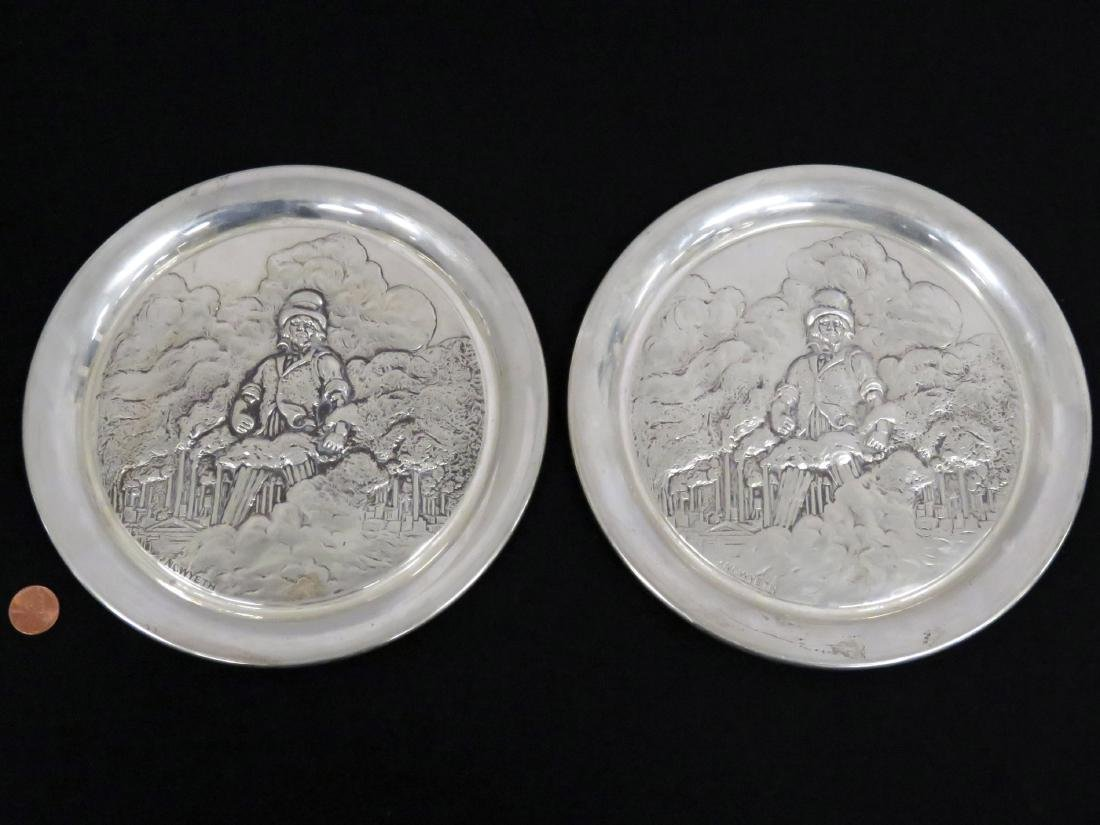 LOT (2) GEORGE WASHINGTON MINT STERLING SILVER LIMITED