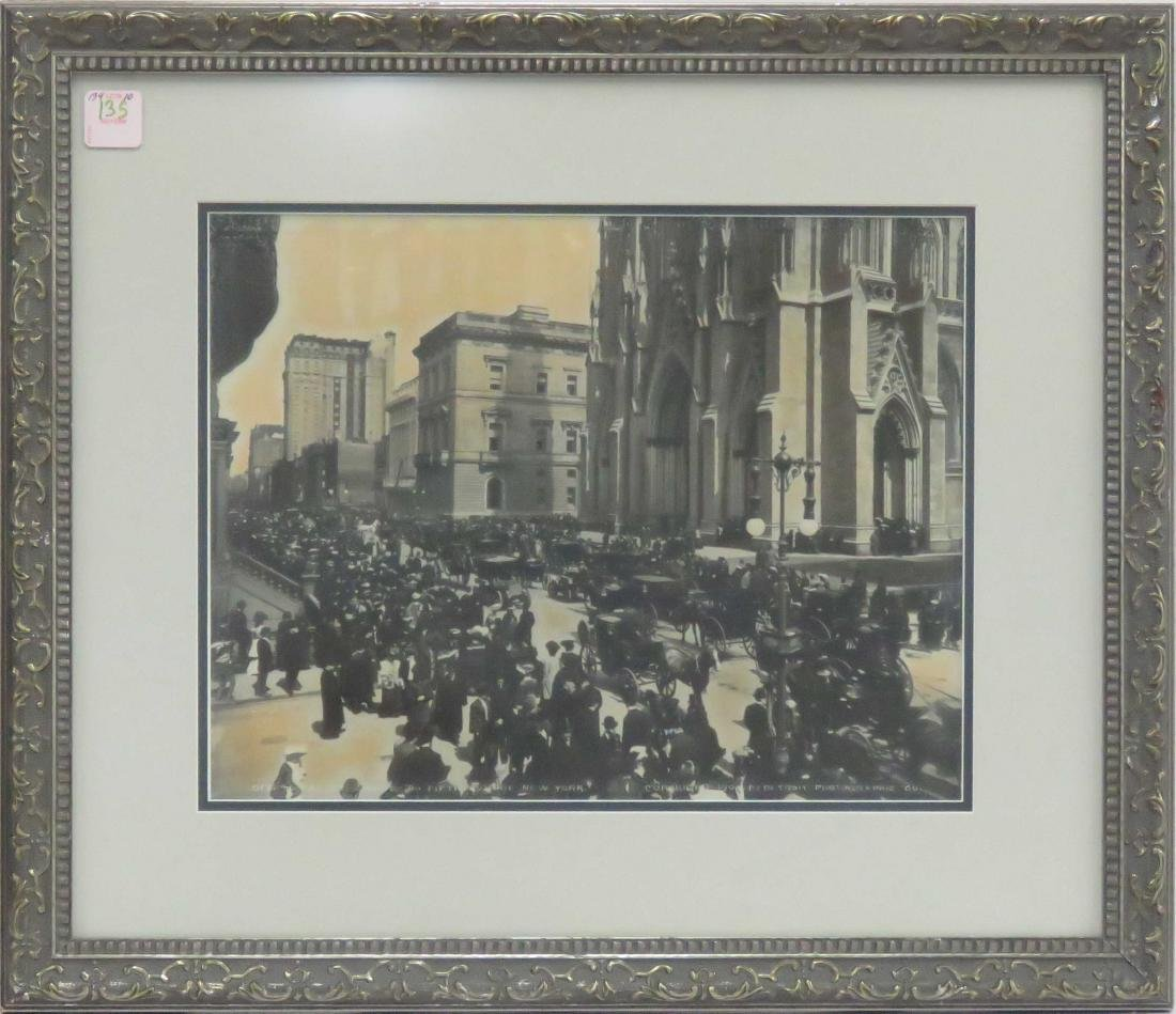 """SILVER PRINT PHOTOGRAPH, """"EASTER CROWDS ON FIFTH AVE,"""