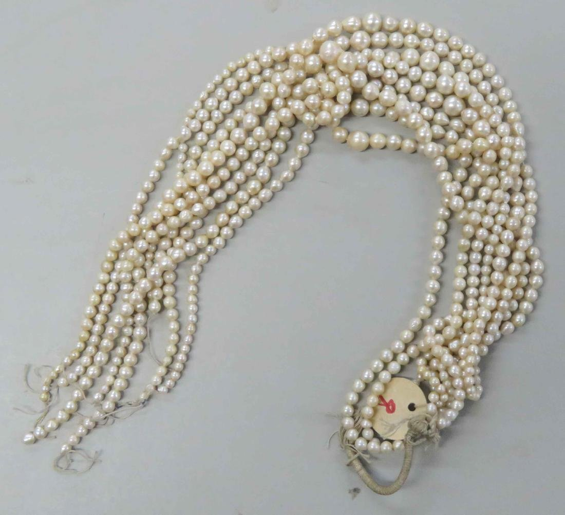 LOT ASSORTED STRANDS CULTURED PEARLS