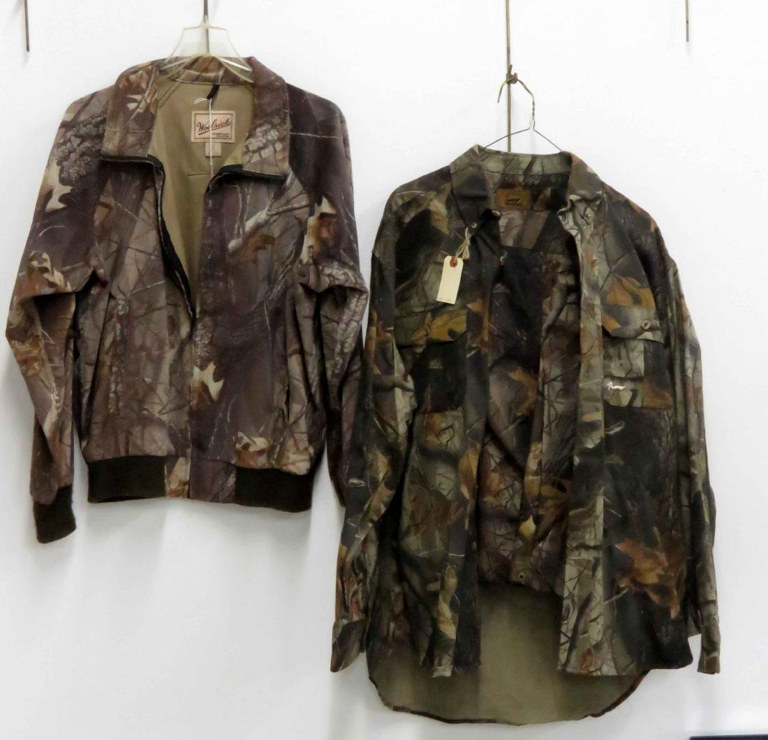 LOT (3) INCLUDING WOOLRICH CAMO PANTS AND JACKET AND