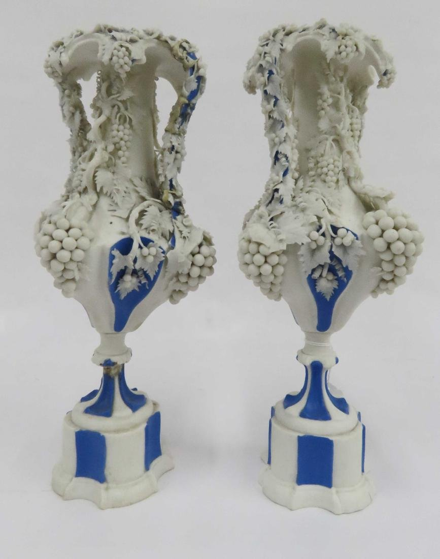 PAIR BENNINGTON PARIAN VASES, 19TH CENTURY