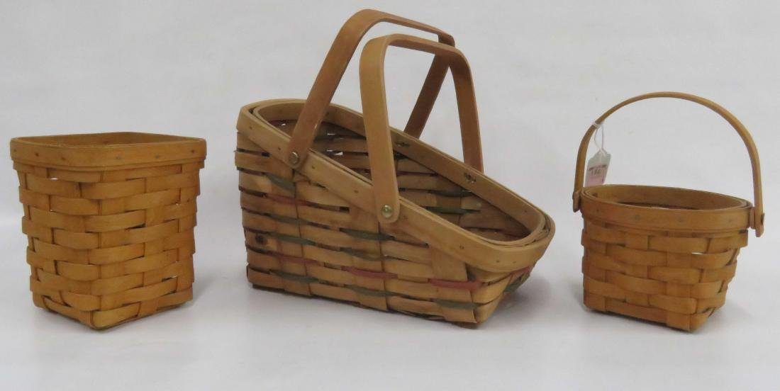 LOT (3) BASKETS, 2/MARKED LONGABERGER