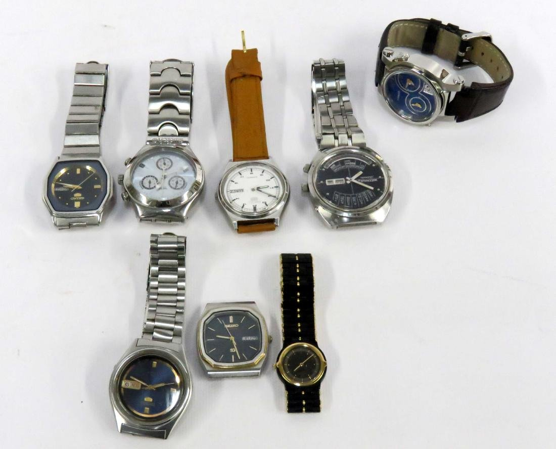 LOT (8) WRISTWATCHES INCLUDING (5) SEIKO, (1) WITTNAVER