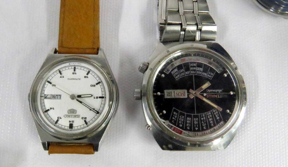 LOT (8) WRISTWATCHES INCLUDING (5) SEIKO, (1) WITTNAVER - 2