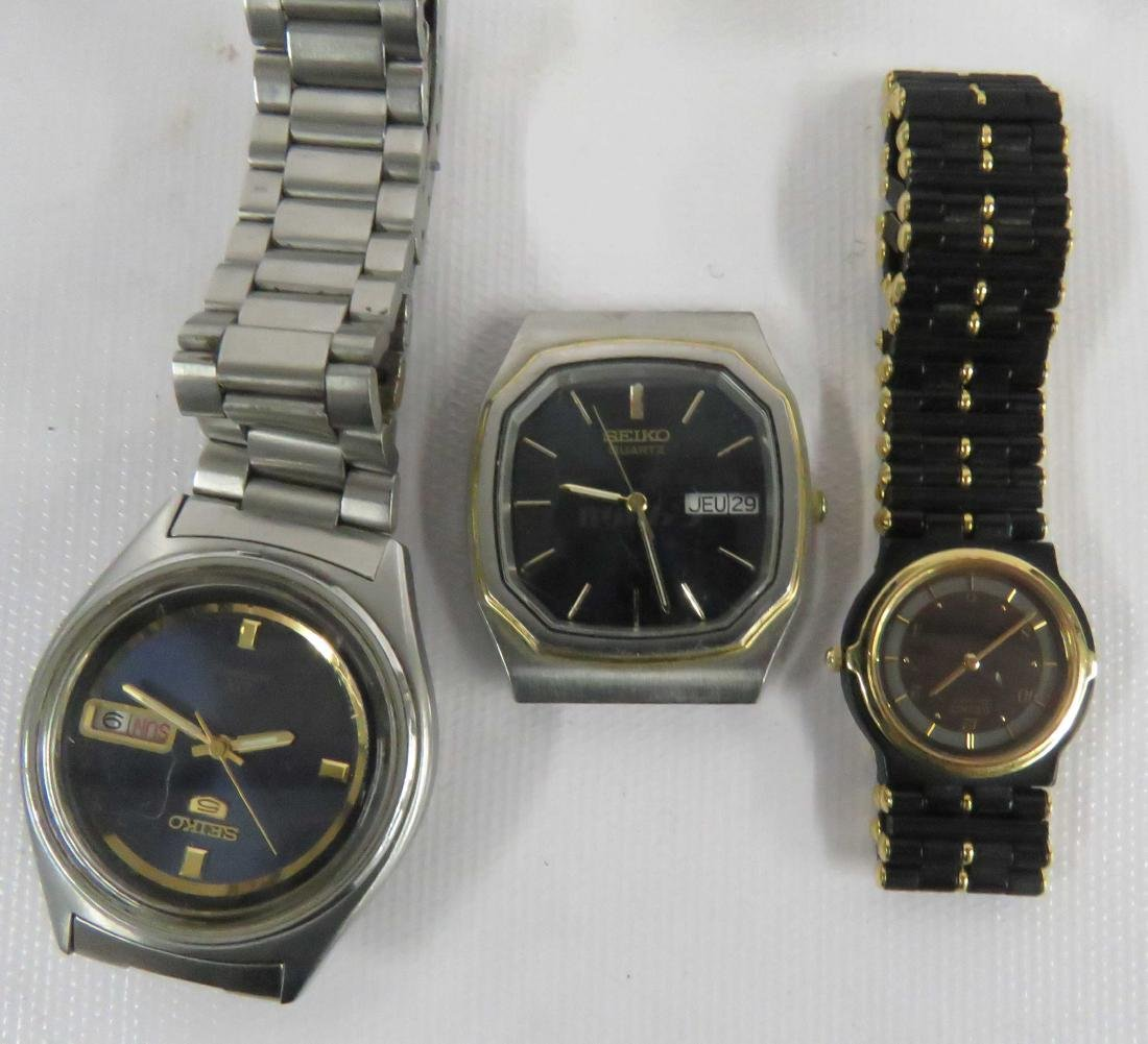 LOT (8) WRISTWATCHES INCLUDING (5) SEIKO, (1) WITTNAVER - 3