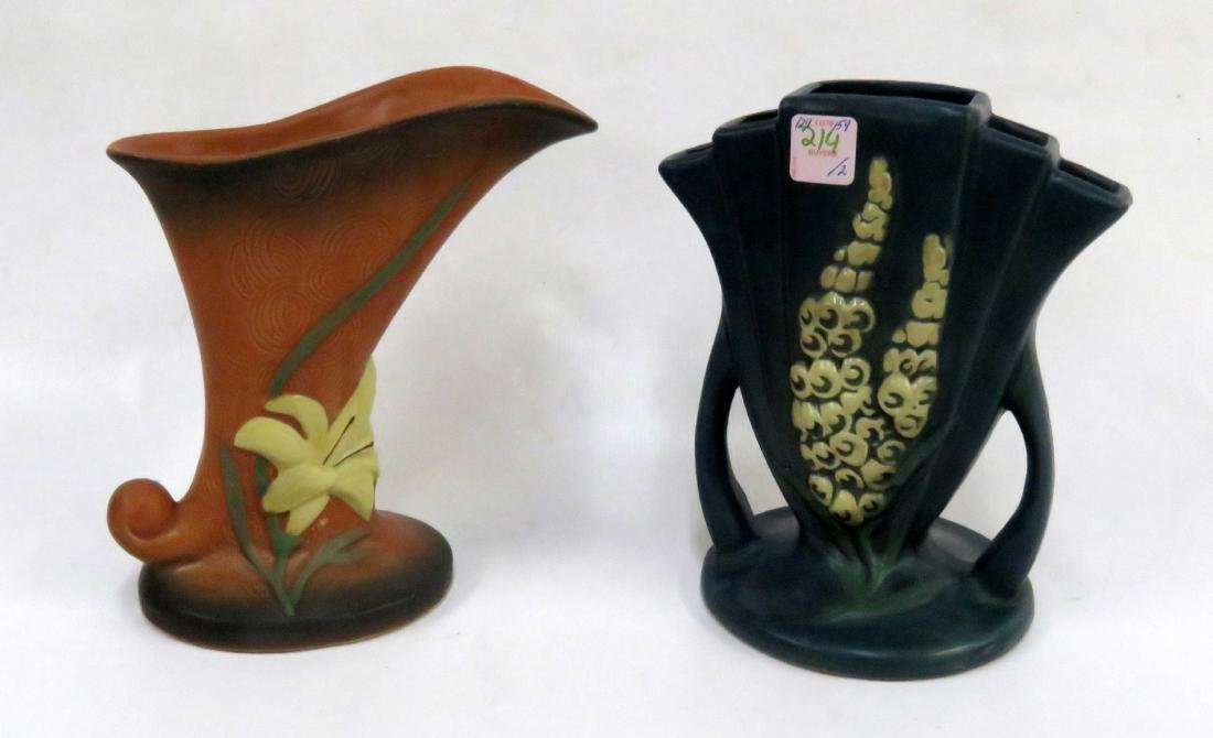 LOT (2) ROSEVILLE POTTERY VASES