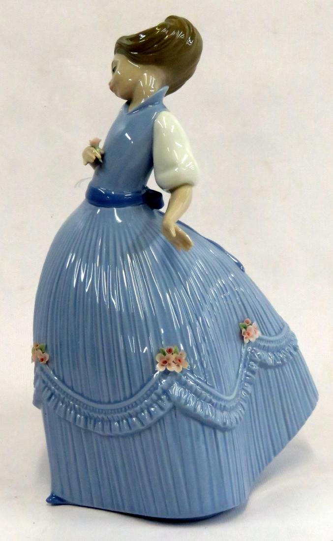 LLADRO DECORATED PORCELAIN FIGURE OF A GIRL, #50. - 2