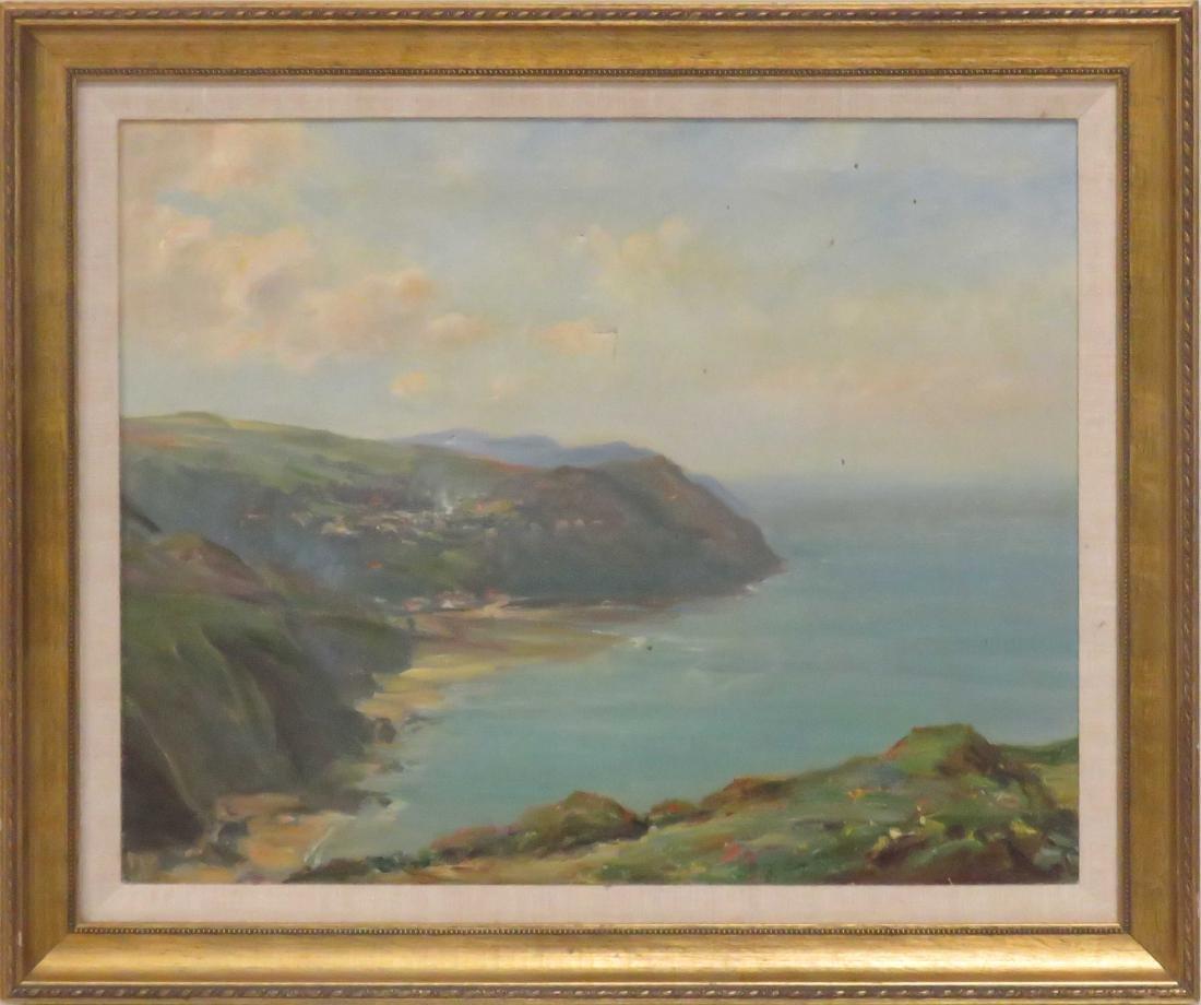 R. BRYRON REID (IRISH 20TH CENTURY), OIL ON CANVAS,