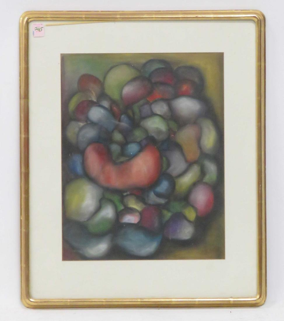 CONTINENTAL SCHOOL (20TH CENTURY), PASTEL, ABSTRACT,