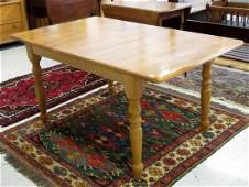 """MAPLE EXTENSION DINING TABLE. HEIGHT 30""""; TOP 36 X 48"""""""
