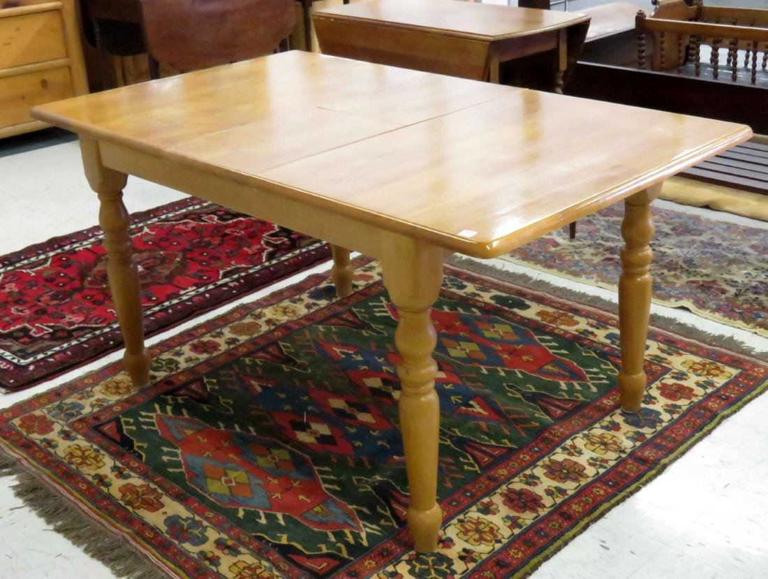 "MAPLE EXTENSION DINING TABLE. HEIGHT 30""; TOP 36 X 48"""