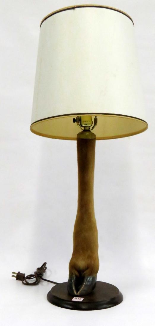 """DEER-LEG TABLE LAMP. HEIGHT 17 1/2"""""""