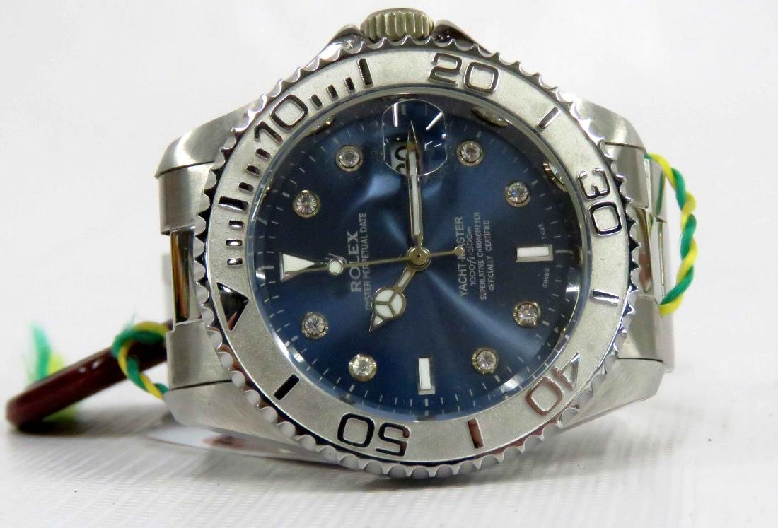 REPLICA STAINLESS YACHT MASTER OYSTER PERPETUAL DATE,