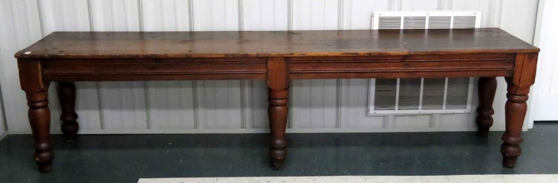COUNTRY PRIMITIVE PINE CONSOLE TABLE, 19TH CENTURY.