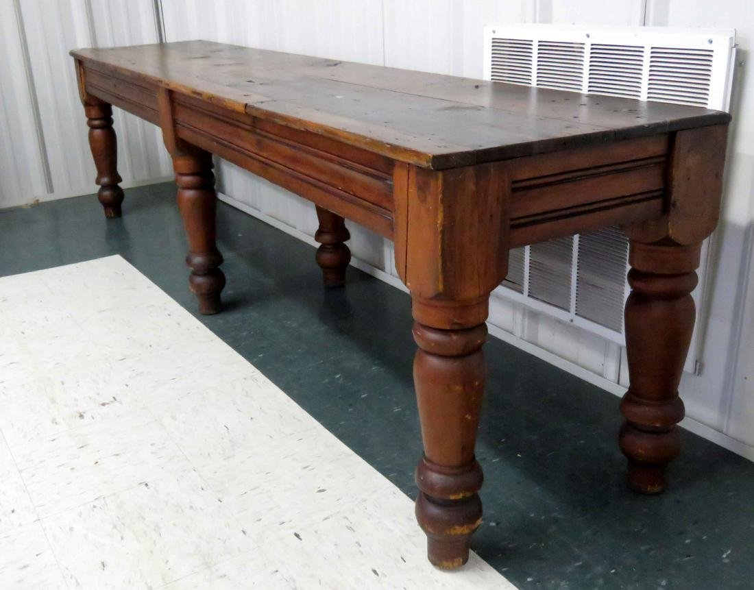 COUNTRY PRIMITIVE PINE CONSOLE TABLE, 19TH CENTURY. - 2