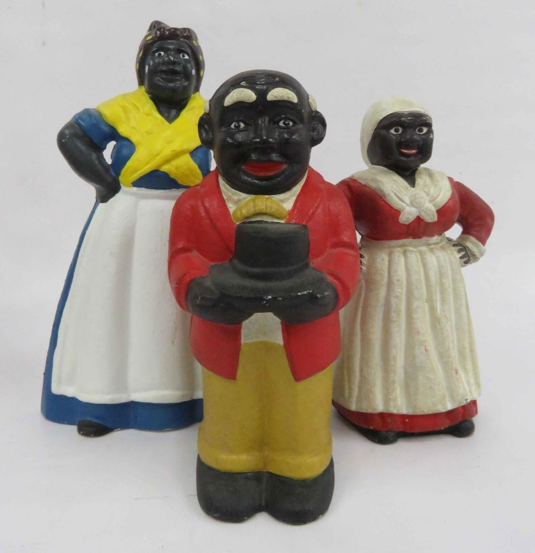LOT (3) BLACK AMERICANA INCLUDING CAST IRON AUNT JAMIMA