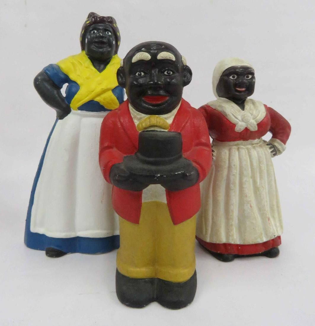 LOT (3) BLACK AMERICANA INCLUDING CAST IRON AUNT JAMIMA