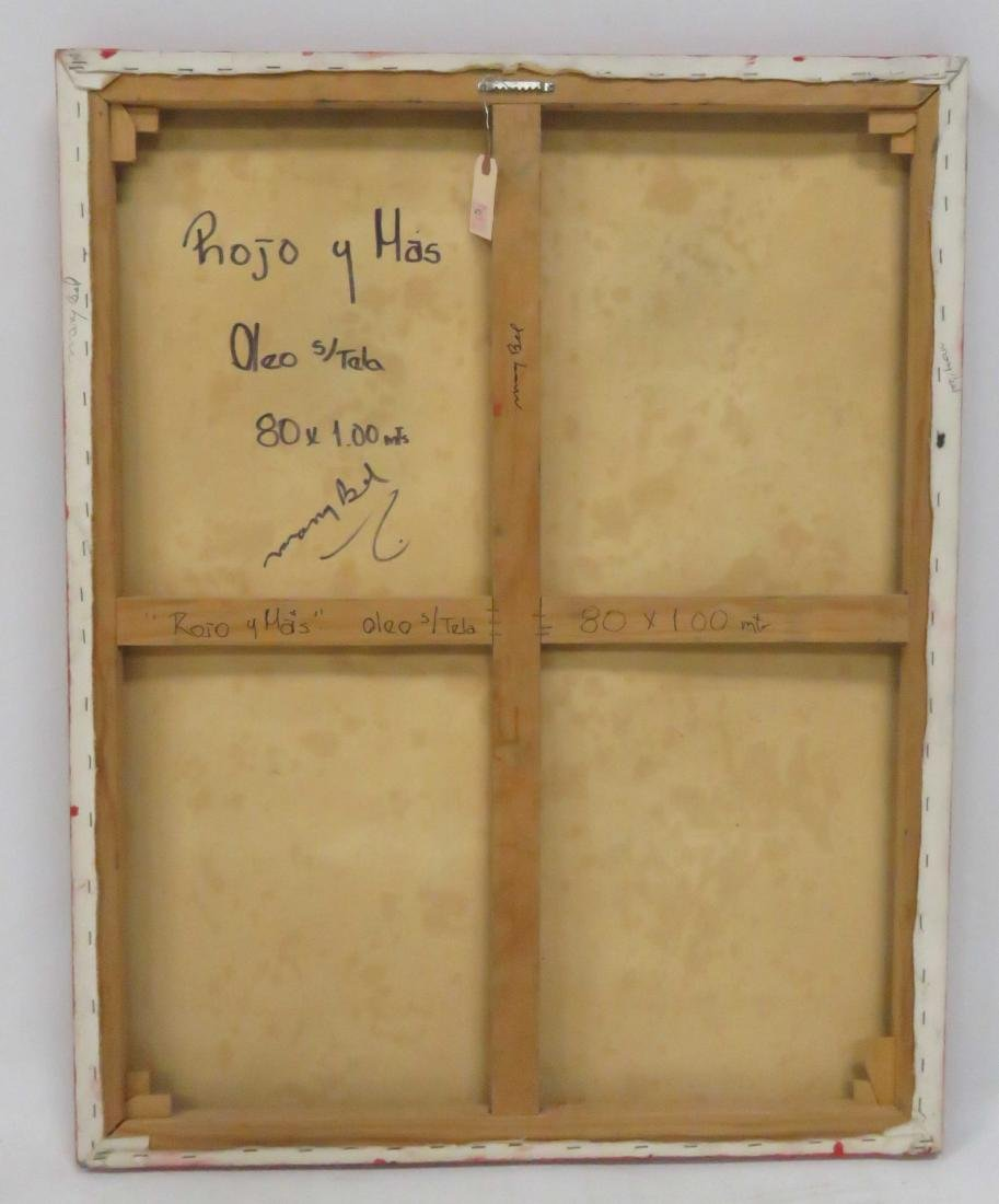 "MARY BEL (SPANISH 20TH CENTURY), OIL ON CANVAS, ""ROJO Y - 2"