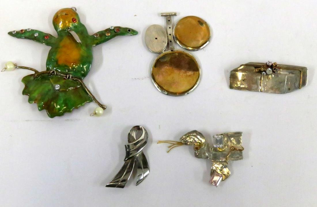 LOT CUSTOM MADE SILVER/COPPER AND CRYSTAL/GEM SET