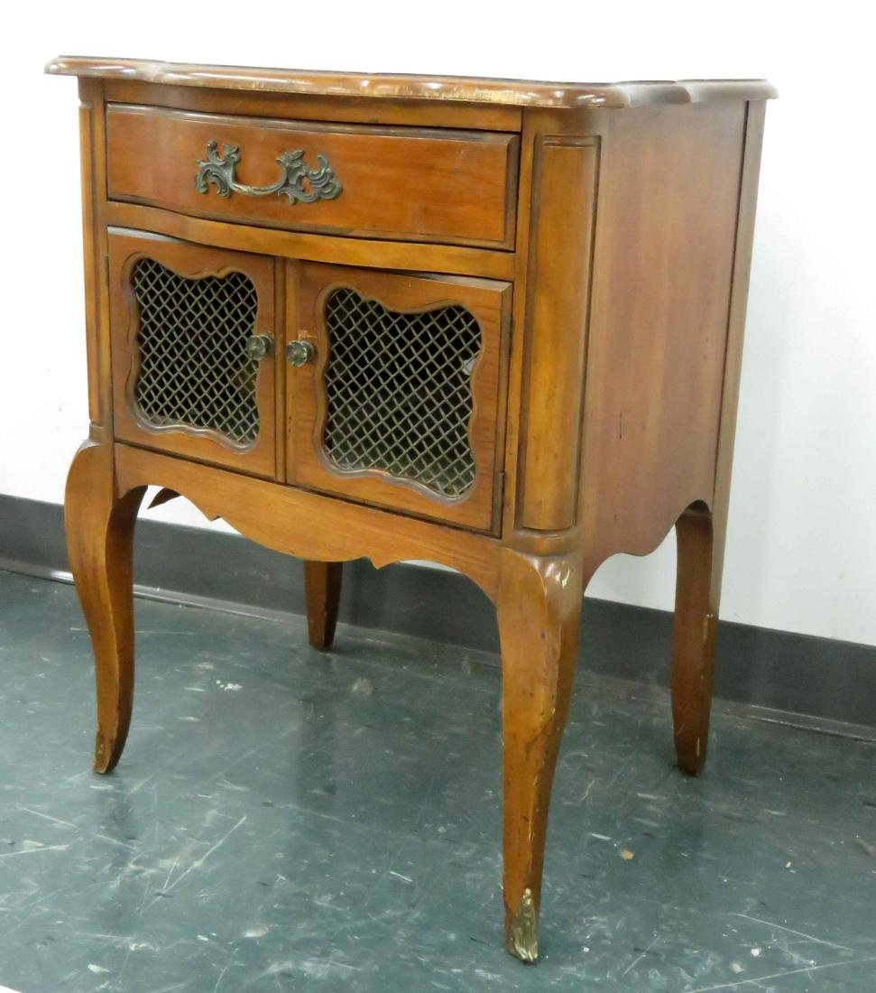 """FRENCH CARVED CHERRY STAND. HEIGHT 26""""; WIDTH 21"""""""
