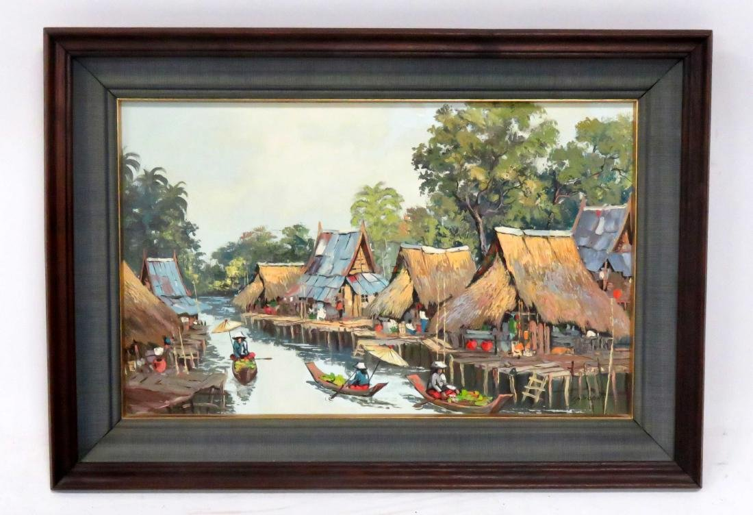 THAI SCHOOL (20TH CENTURY), OIL ON CANVAS, FLOATING