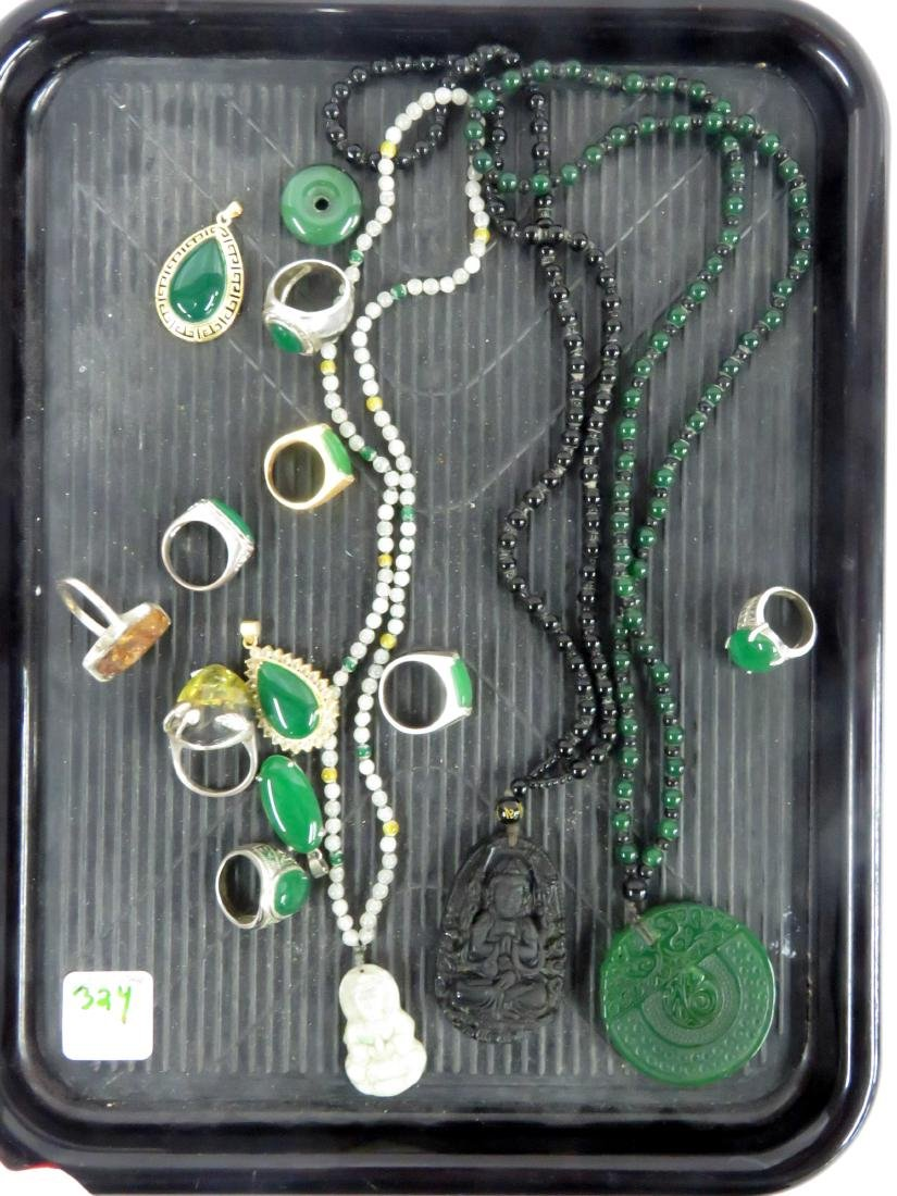 ASSORTED ETHNIC DESIGN COSTUME JEWELRY