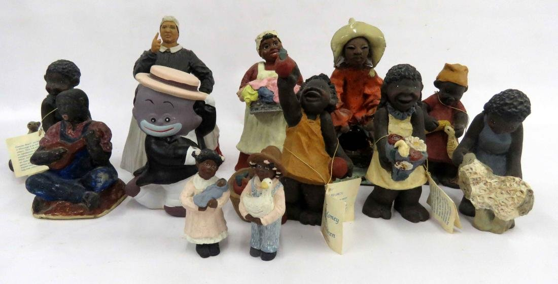 LOT (12) BLACK AMERICANA ASSORTED FIGURES INCLUDING THE
