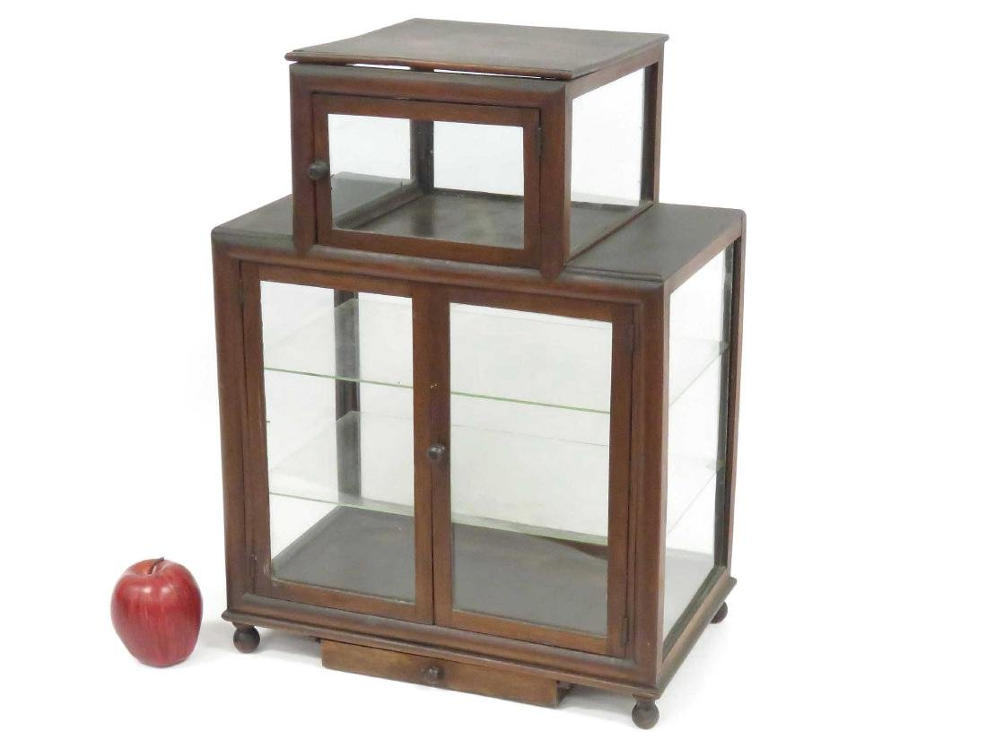 VINTAGE MAHOGANY COLLECTOR CABINET, 19TH CENTURY.