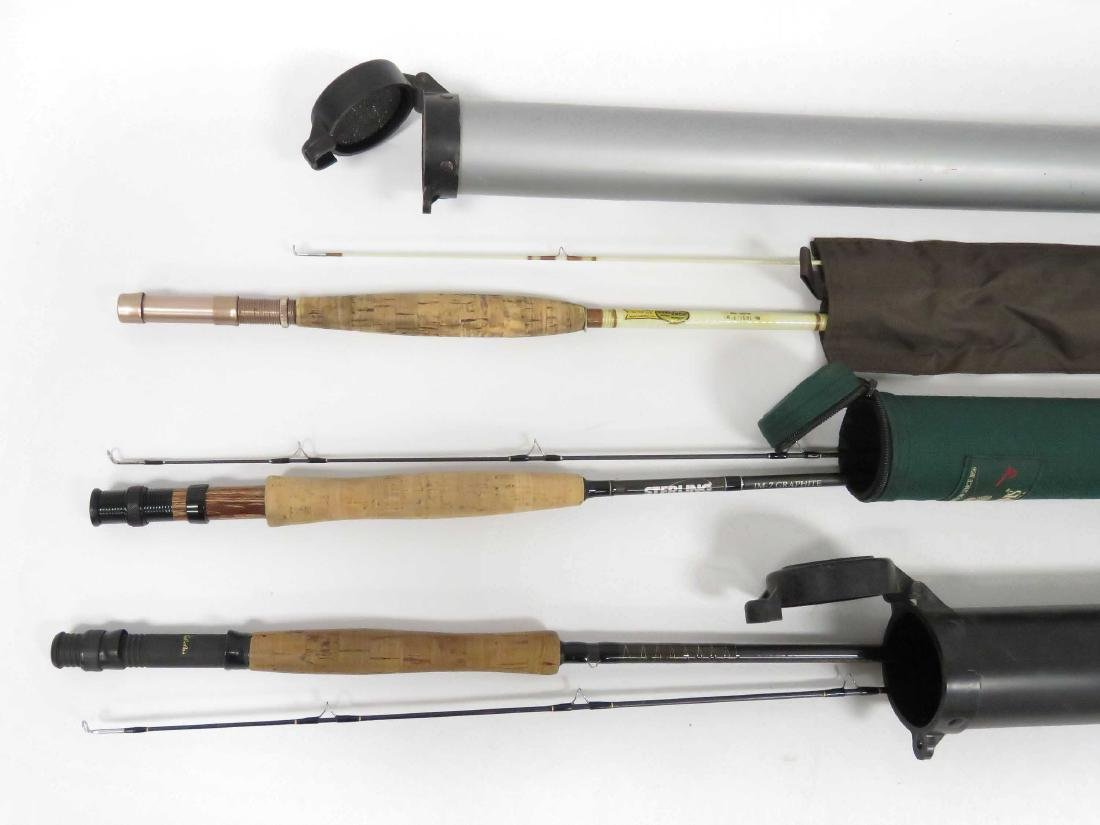"""LOT (3) INCLUDING SHAKESPEARE 1451 7'9"""" FLY ROD; CABELA"""