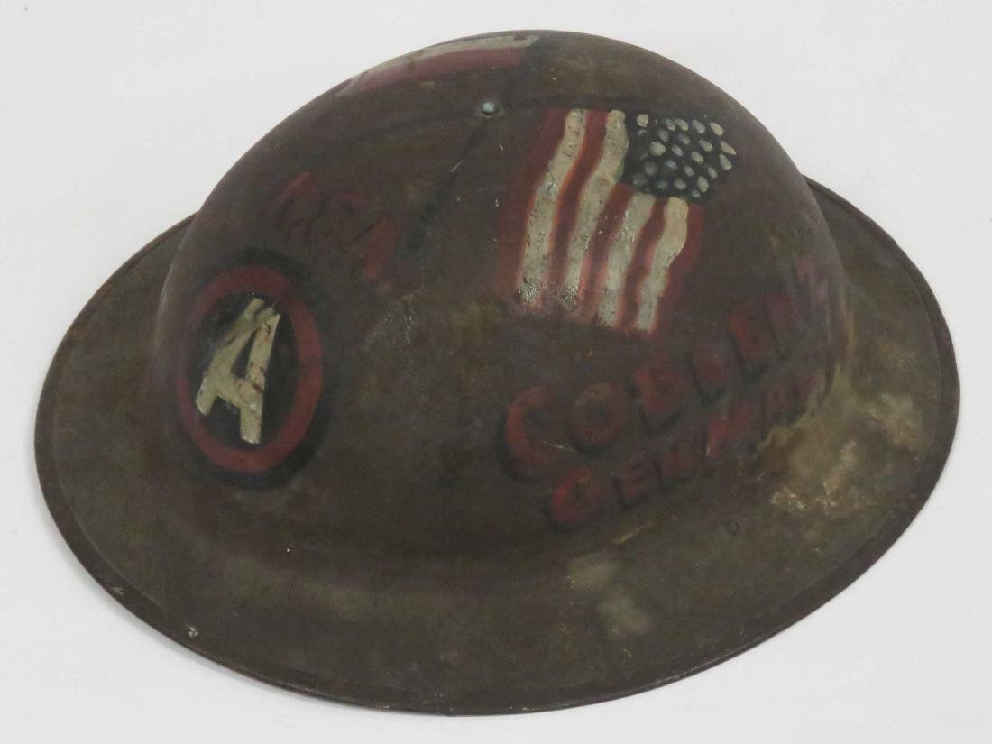 WWI DOUGHBOY HELMET, PAINTED