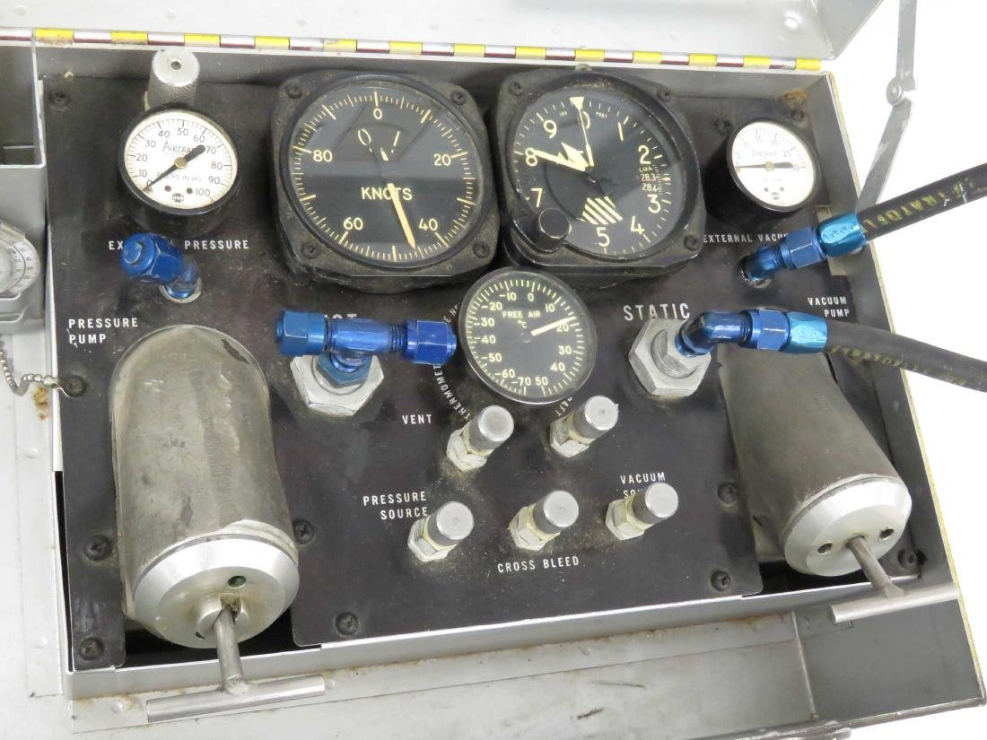 VINTAGE WWII ERA AIRCRAFT PILOT STATIC SYSTEM FIELD - 2