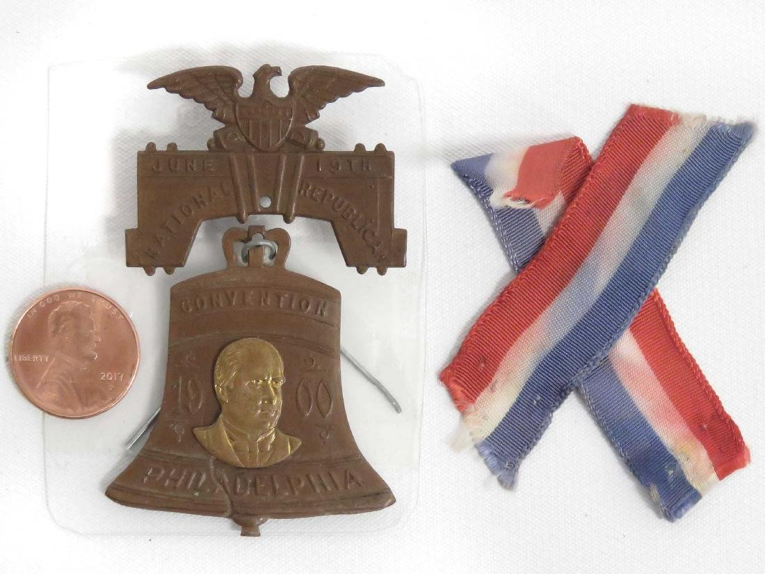 1900 REPUBLICAN NATIONAL CONVENTION BADGE