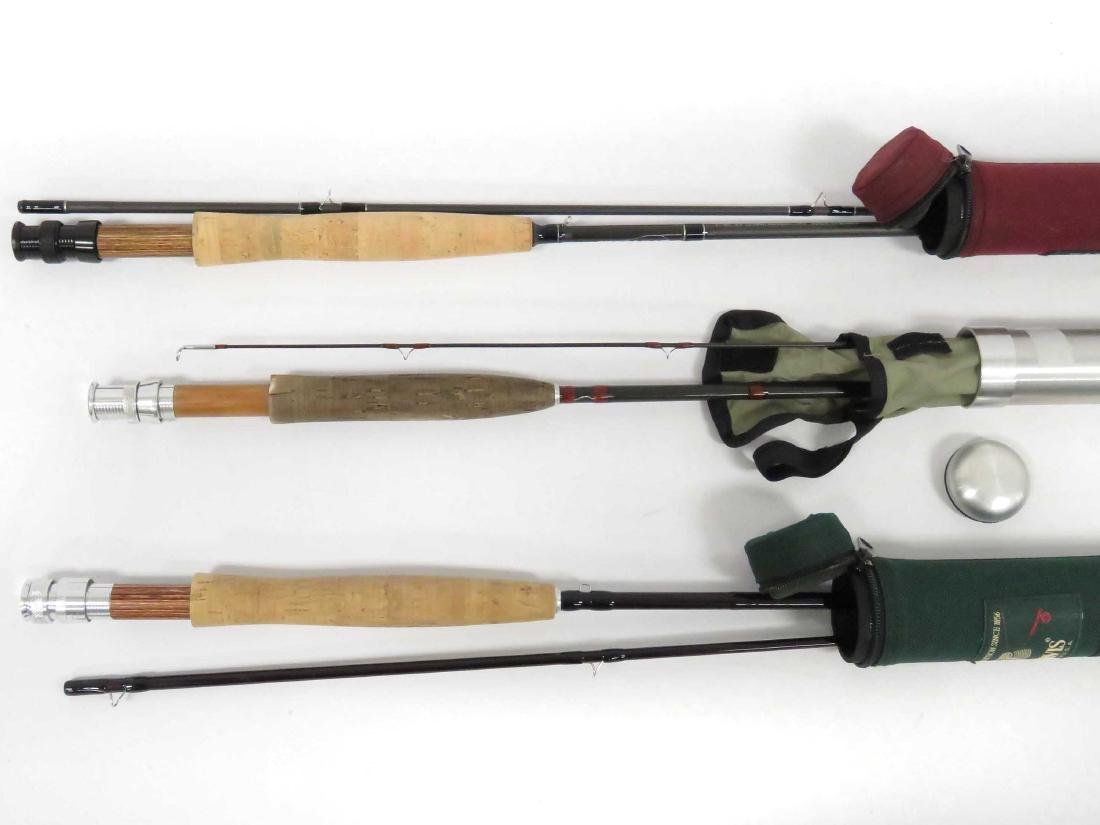 LOT (3) ASSORTED GRAPHITE FLY RODS INCLUDING 9'