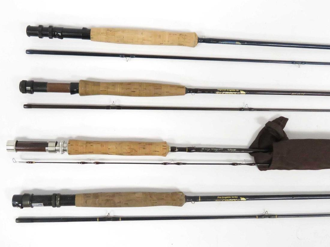 LOT (4) ST. CROIX GRAPHITE FLY FISHING RODS. LENGTH