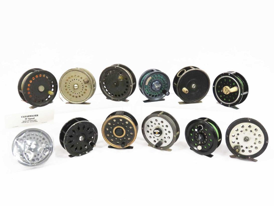 LOT (12) ASSORTED FLY FISHING REELS