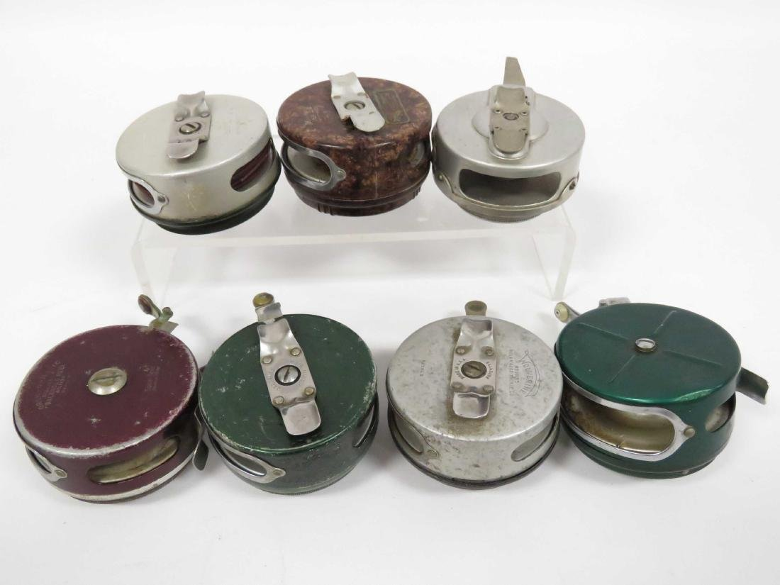 LOT (7) ASSORTED VINTAGE FLY FISHING REELS - 3