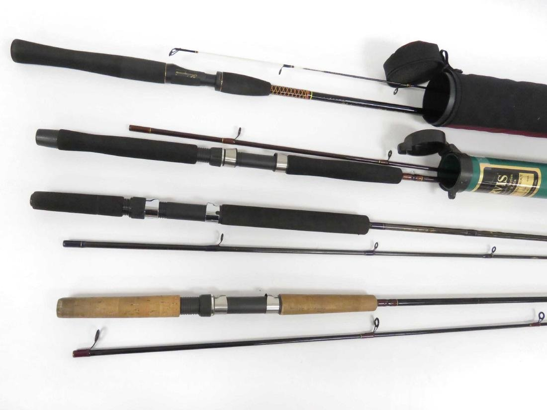 LOT (4) ASSORTED CASTING RODS INCLUDING BROWNING 9'