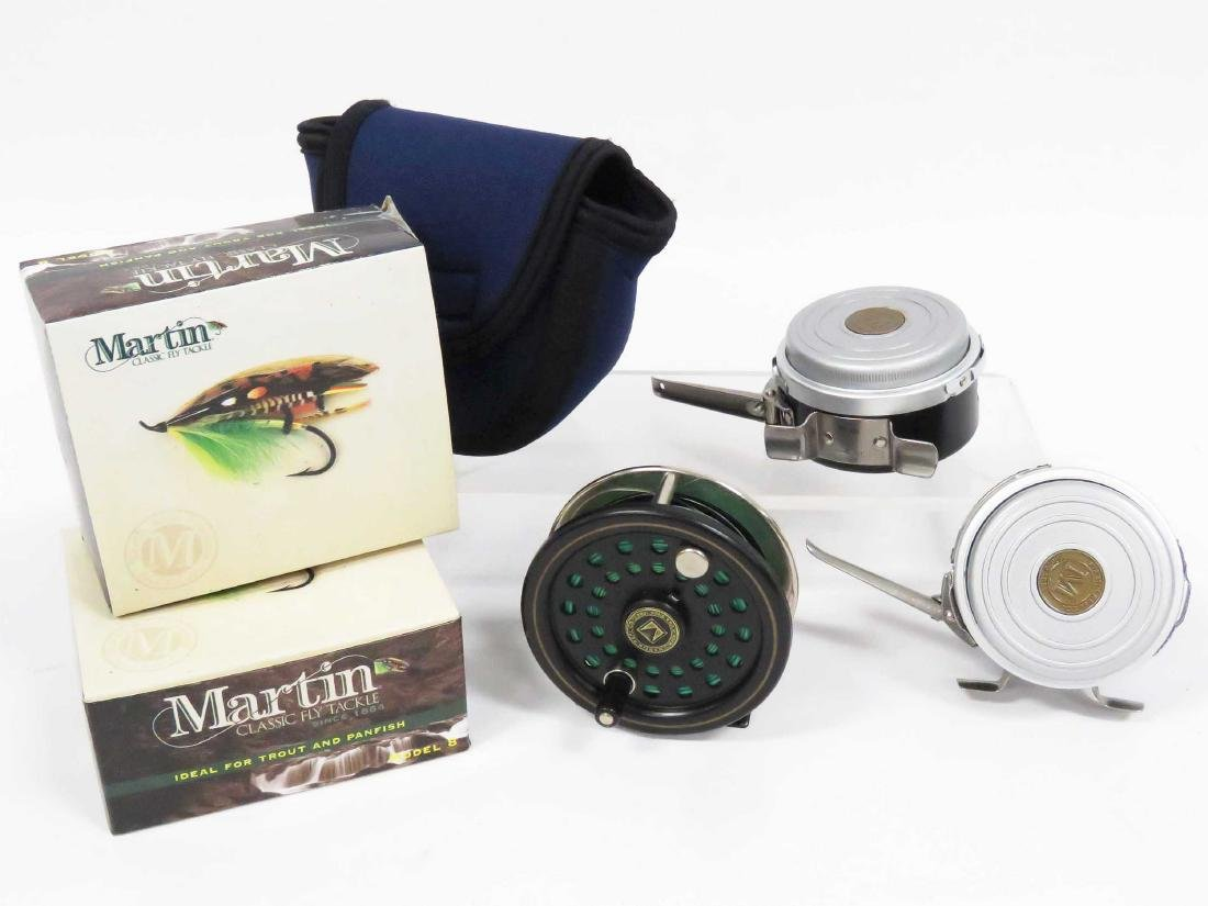 LOT (3) MARTIN FLY REELS, BOXED/CASE