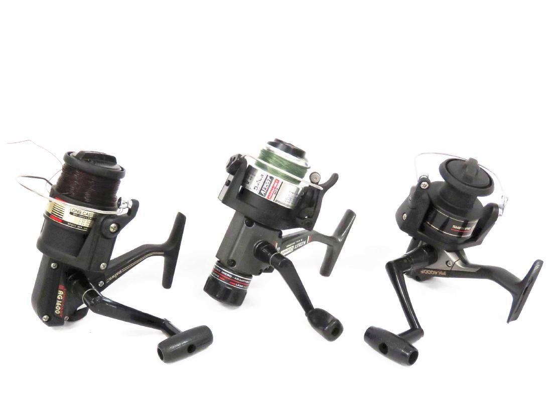 LOT (3) SPINNING REELS INCLUDING DIAWA LONGCAST AG1600,