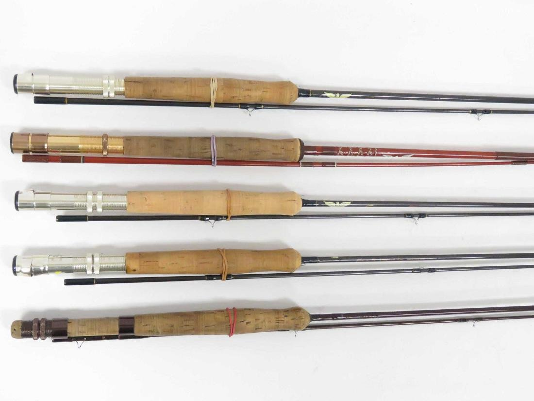 LOT (5) ASSORTED FENWICK GRAPHITE AND GLASS FLY RODS