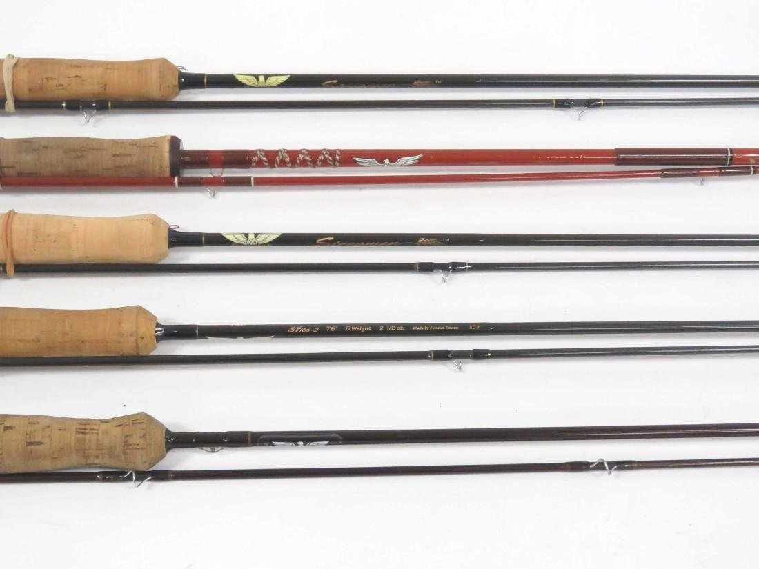 LOT (5) ASSORTED FENWICK GRAPHITE AND GLASS FLY RODS - 2