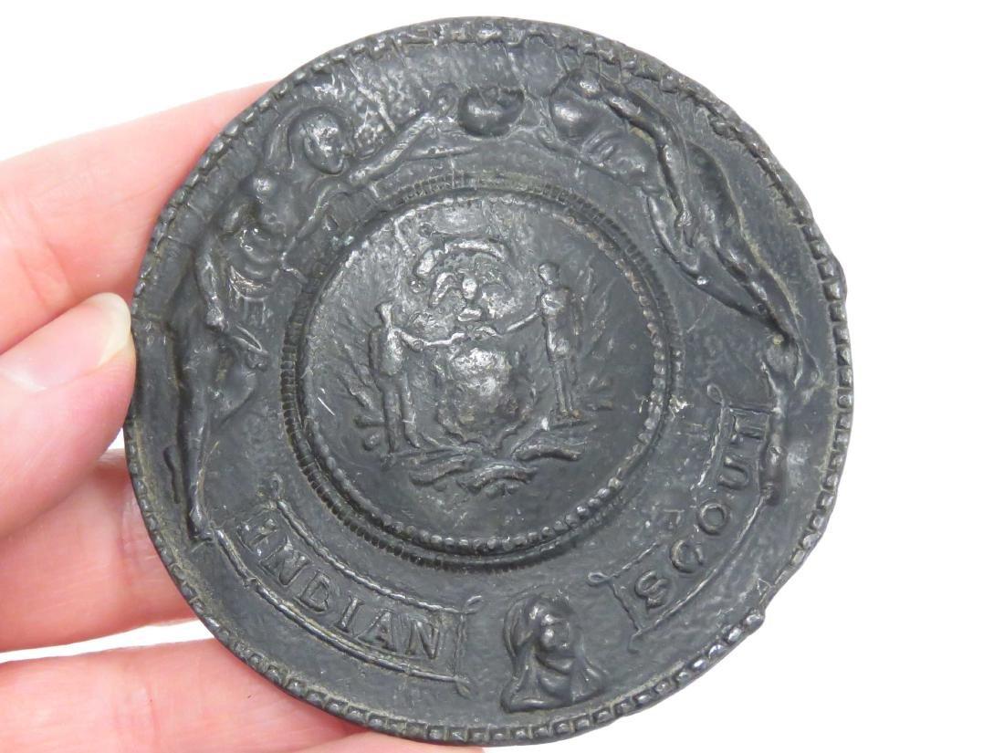 LOT (4) CIVIL WAR FANTASY BELT BUCKLES INCLUDING C.S.A. - 2