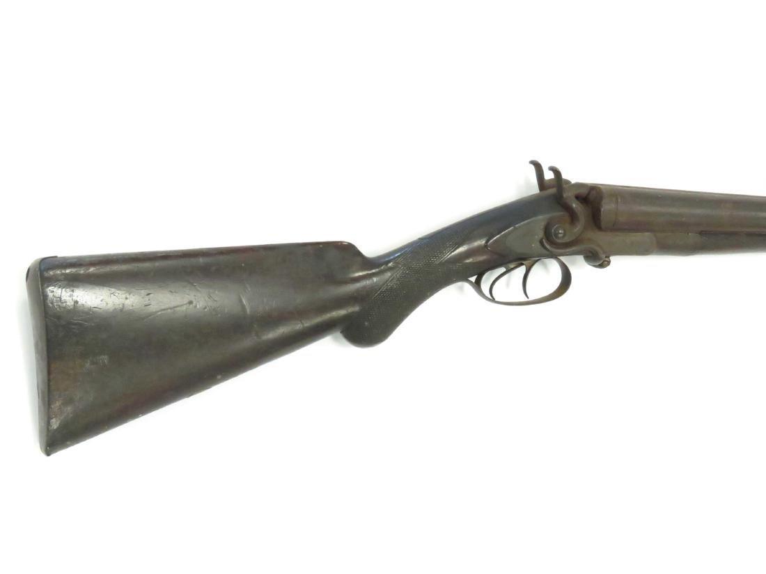 W.W. GREENER 12 GA HAMMER LOCK DBL BARREL SHOTGUN, #NA, - 2