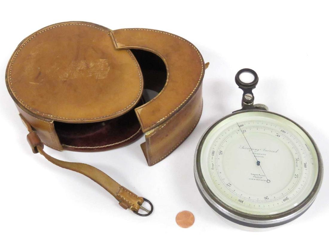 SHORT AND MASON LONDON SURVEYING ANEROID BAROMETER WITH