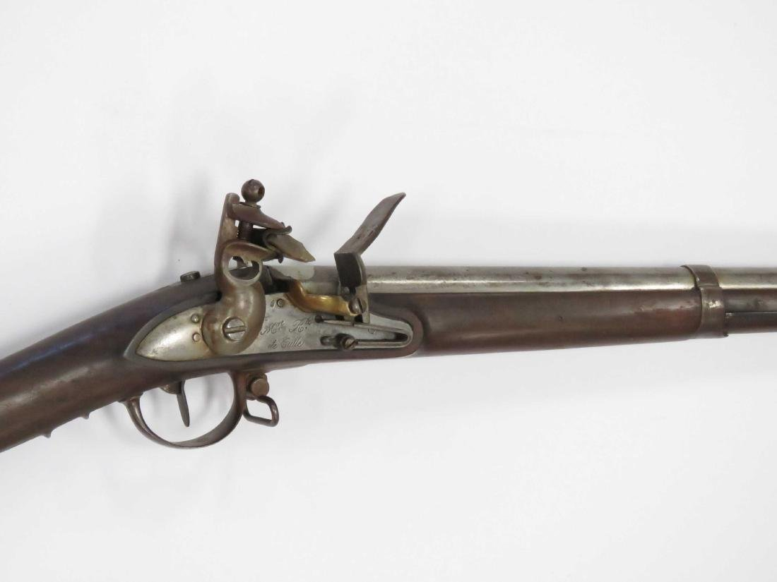 FRENCH MODEL 1822 .69 CAL FLINT LOCK MUSKET, FOR LIGHT - 2