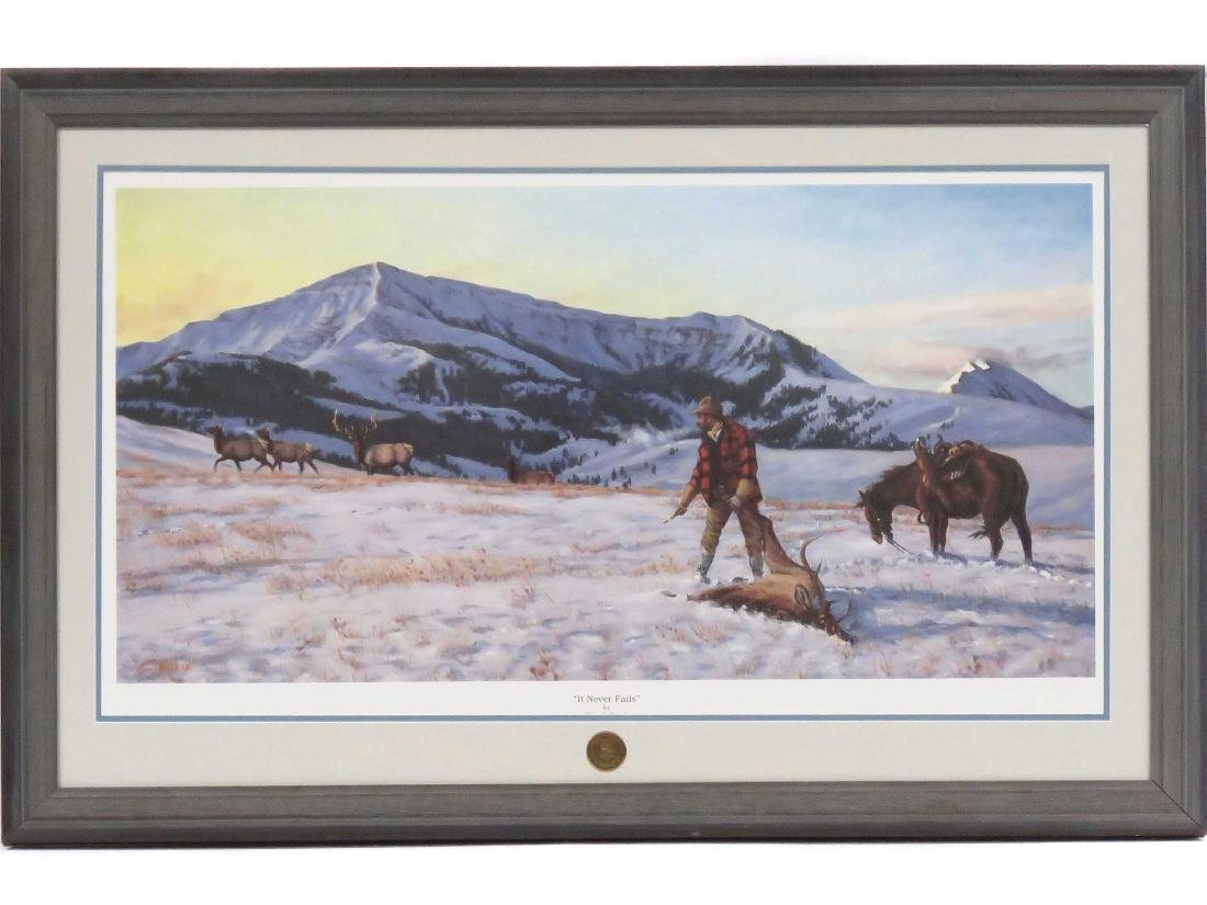 """LIMITED EDITION PRINT, """"IT NEVER FAILS"""", C. KNEIB,"""