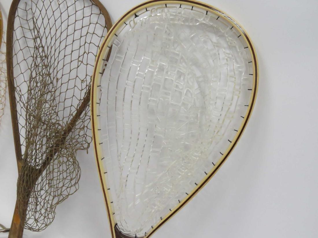 LOT (4) VINTAGE WOOD FISH NETS - 2