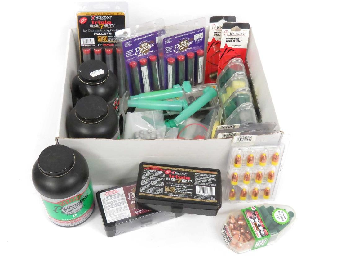LOT ASSORTED MUZZLE LOADING SUPPLIES