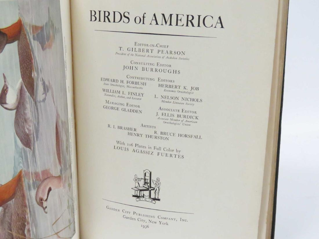 LOT (2) VOLUMES-BIRDS OF AMERICAN, PEARSON/BURROUGHS, - 2