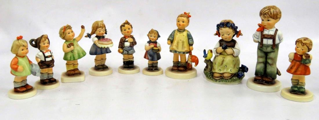 LOT (10) GOEBEL HUMMEL PORCELAIN FIGURINES INCLUDING
